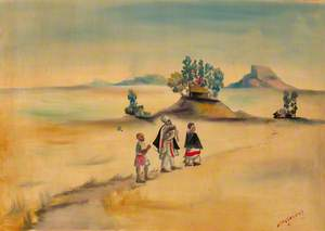 Figures Walking in a Landscape