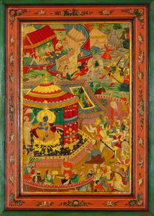 Krishna Encamped near the Field of Battle