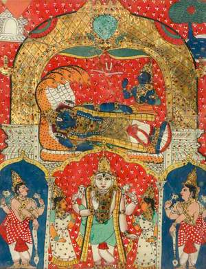 Vishnu Reclining on the Serpent Ananta