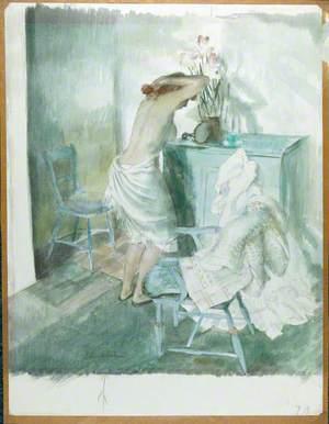 Woman at Toilet