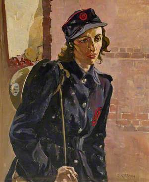Auxiliary Fire Service Girl, City Fire Station