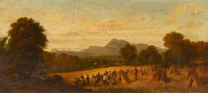 A Harvest Scene near Edinburgh