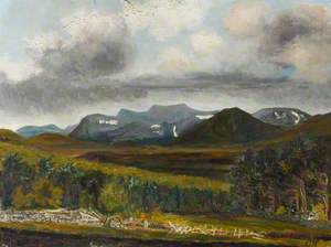 View of the Cairngorms from the Ladies Turn, Dulman Bridge