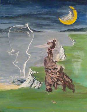 Landscape with Surrealist Objects