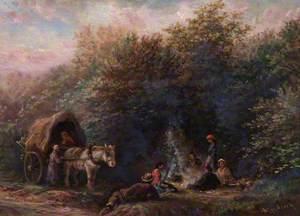 Gipsy Camp, Croham Hurst, Croydon, Surrey