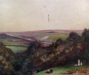 Country View, Figures in the Foreground
