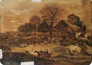 Merstham Hunt, Surrey (The Meeting of the Hounds at Chipsteach Church)