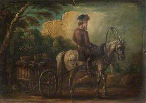 Peasant with a Horse and a Cart