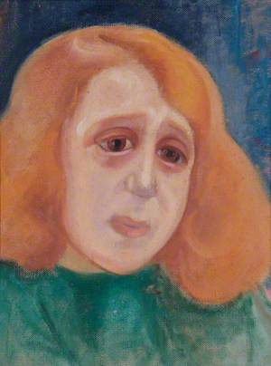 Girl with Ginger Hair and a Green Blouse