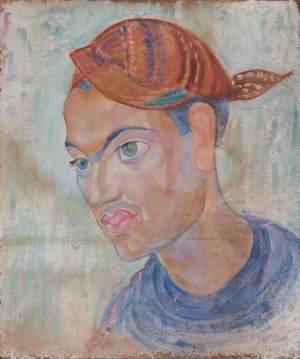 Man with a Striped Headscarf