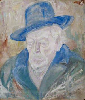 Portrait of a Man in a Fedora Hat