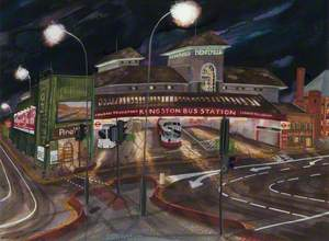 Kingston Bus Station by Night