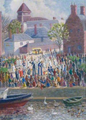 Riverside Gathering with Morris Dancers