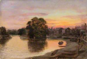 Kew, Surrey, at Sunset, Paton's Property