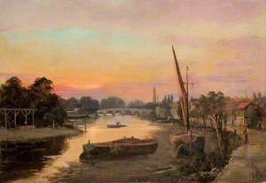 Kew, Surrey, at Sunset, Kew Bridge