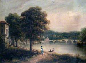 Asgill House by Cholmondeley Walk, Richmond, Surrey, Looking towards Richmond Bridge