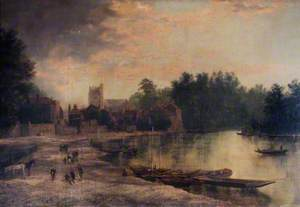 Twickenham Parish Church and Eel Pie Island, Middlesex