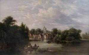 Twickenham Church, Embankment and Eel Pie Island, Middlesex