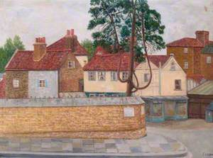 Church Lane from Church Street, Twickenham, Middlesex