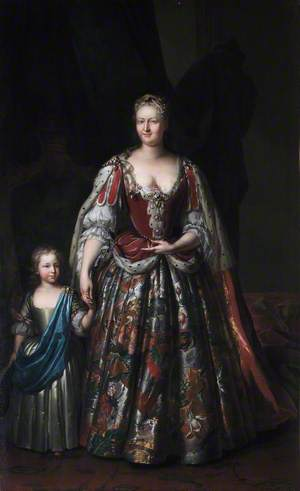 Queen Caroline of Ansbach (1683–1737), with Her Son, Later the Duke of Cumberland