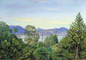 View from the Botanic Gardens, Hobart Town, Tasmania