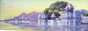 Lake of Islands, Oodipore, Guzerat, Western India