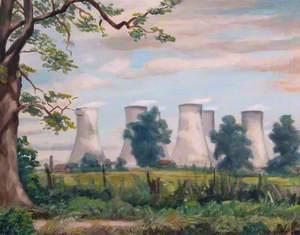 Beddington Lane with Cooling Towers, Beddington, Surrey