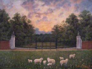Carshalton Park Gates, Surrey, from the Outside