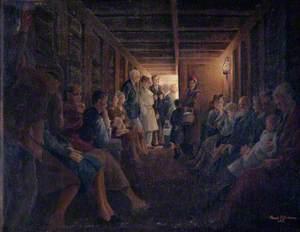 Interior of an Air-Raid Shelter at The Grove, Carshalton, Surrey