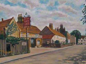 'Ye Olde Red Lion' Pub, Park Lane, Cheam, Surrey, in 1930