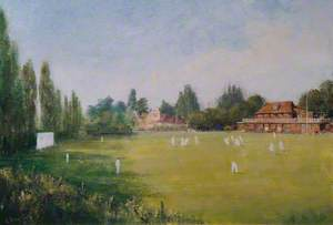 Cricket at Cheam Sports Club, Surrey