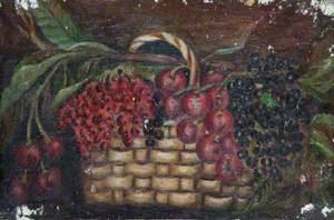 Basket of Cherries and Blackcurrants