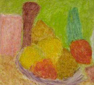 Still Life with Fruit and Peppermill
