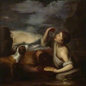 A  Spanish Boy with a Dog