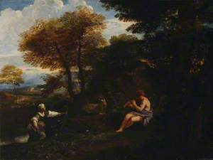 Landscape with Mercury and a Nymph