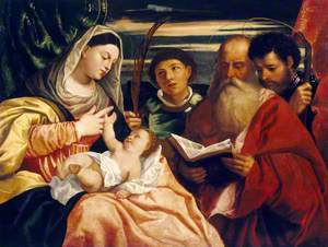 The Madonna and Child with Saints Stephen, Jerome and Maurice