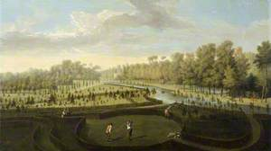 A View of Chiswick House Gardens from the West towards the Bagnio