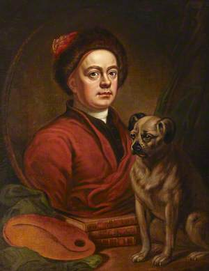 Self Portrait, The Painter and His Pug