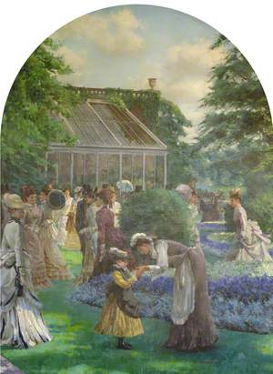 Garden Party in the Grounds of Holland Park, 1870s*