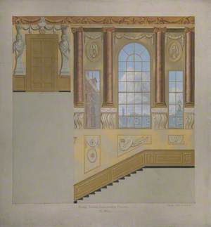 King's Stairs, Kensington Palace, West Wall