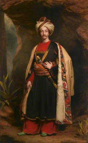 'Captain Colin Mackenzie (1806–1861), Madras Army, lately a hostage in Caubool, in his Affghan Dress'