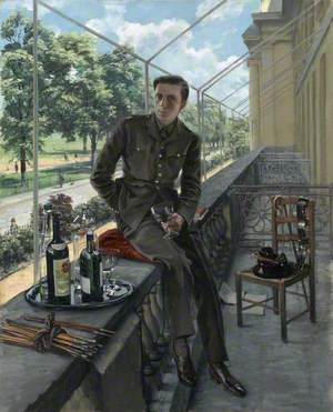 Rex Whistler's Self-Portrait in Welsh Guards Uniform, May 1940