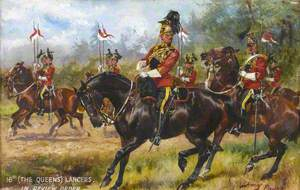 16th (The Queen's) Lancers in Review Order