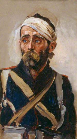 Study of a Wounded Guardsman, Crimea, c.1854