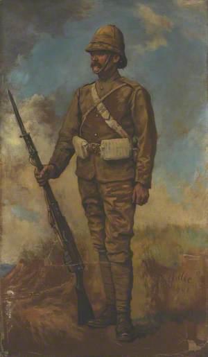 A British Infantryman in Marching Order