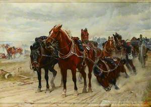 Patient Heroes, a Royal Horse Artillery Gun Team in Action, c.1882