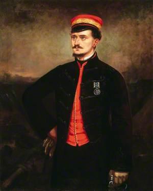 Lieutenant Thomas Murphy  (1833–1922) in the Undress Uniform of the Turkish Contingent, Crimea, c.1854