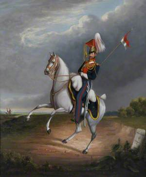 A Mounted Cavalryman of the 9th Lancers, c.1827