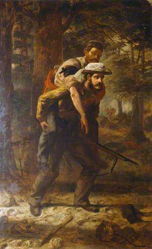 Ross Lewis Mangles (1833–1905), Bengal Civil Service, Winning the Victoria Cross Saving a Wounded Soldier of the 37th (North Hampshire) Regiment During the Indian Mutiny, 1857