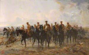 The Royal Horse Guards Retreat from Mons, 1914